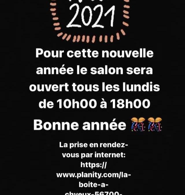 Bonne année  #2021 #laboîteàch'veux #hairstyl…